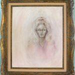 """Farrah Fawcett's """"Self Portrait,"""" circa 1970, an oil on canvas."""